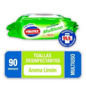 Toallas húmedas desinfectantes Virutex 90 un.