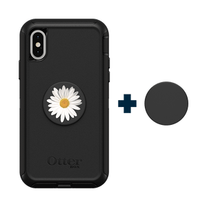 Otter + Pop Black Defender Series Case