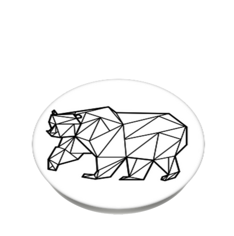 Wildlife Conservation Network Geometric Bear Popsockets Popgrip