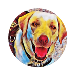 Bobbi the service dog, PopSockets
