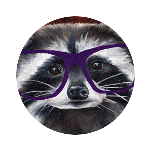 Raccoon with Glasses