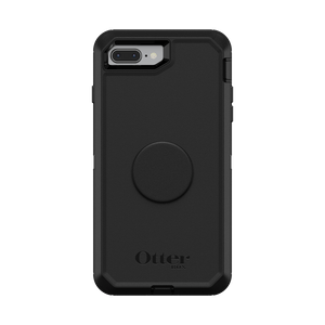 Otter + Pop Black Defender Series Case, PopSockets