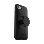 Otter + Pop Black Symmetry Series Case, PopSockets