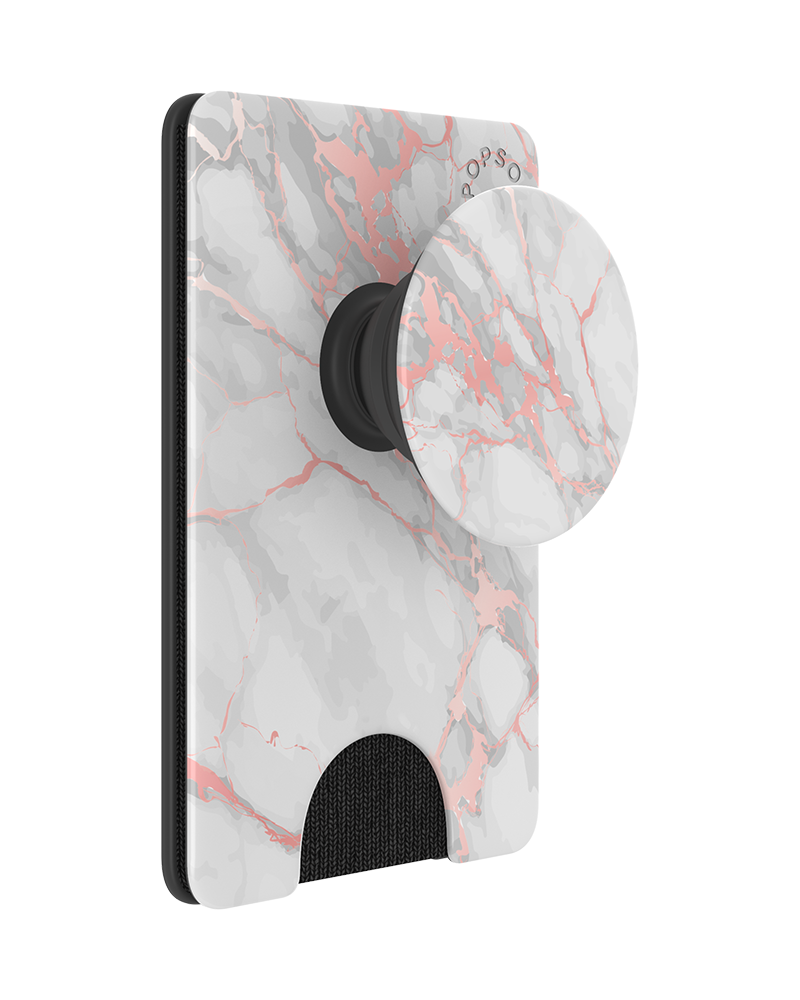 PopWallet+ Rose Gold Blush Marble, PopSockets