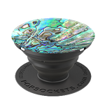 Faux Abalone (Black), PopSockets