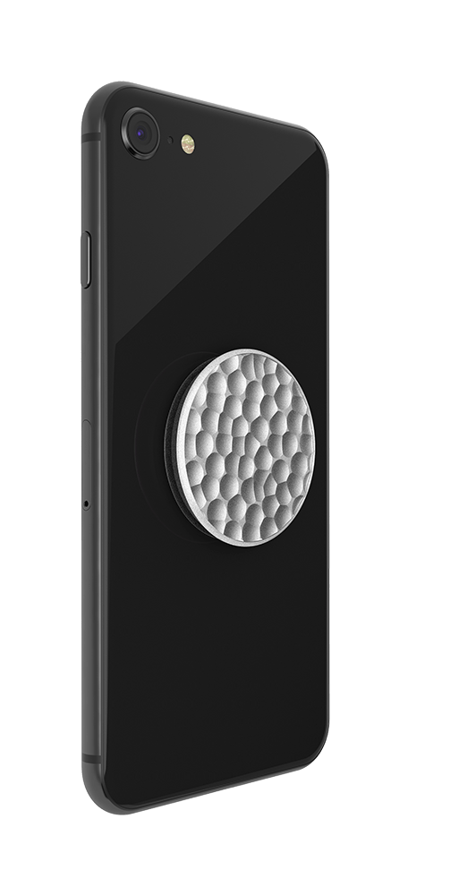 Hammered Metal Silver, PopSockets