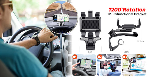 Upgraded Rotating 3-in-1 Phone Holder