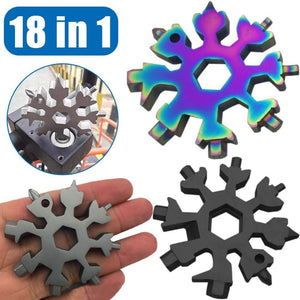 18 in 1 Stainless Steel Snowflakes Multi Tool