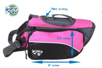 1 Dog Saddlebags Backpack 2PET w Adjustable Harness Pink Large princess cute