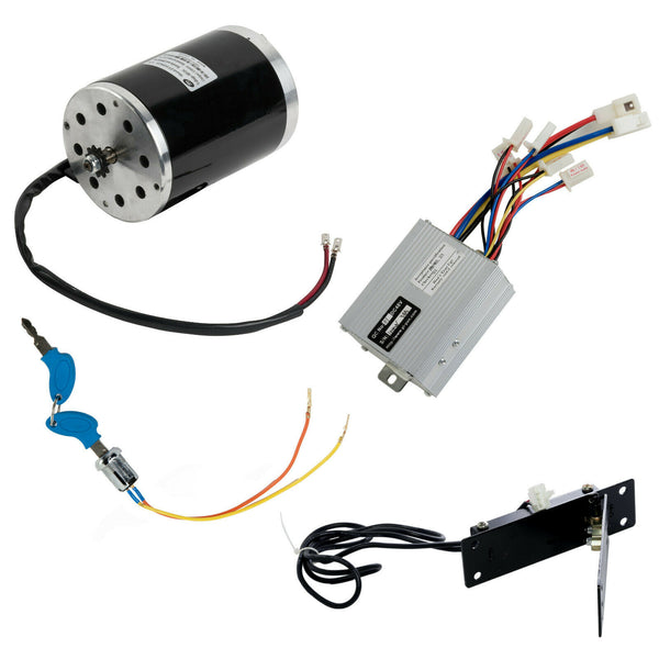 1000W 48V electric NO BASE motor kit w control box+key lock+Foot Pedal Throttle