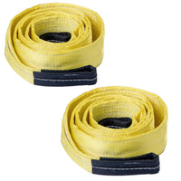 "Two (2x) 3"" 20000lb Tow Strap 10 ft winch tree saver protector off-road recovery"