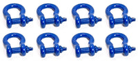 "8x BLUE 3/4"" Bow Shackles D Ring Screw Pin Jeep CJ Off-Road Anchor Bow 4 3/4 TON"