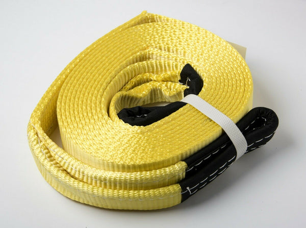 "2""x20' Yellow 20000lb 9T 2x20 Auto SUV Truck Tow Strap winch off-road recover"