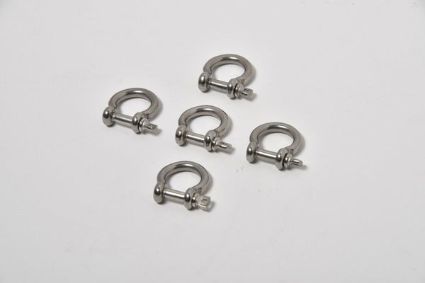 5pcs M4 304 Stainless Steel Screw Pin Anchor Shackle Bow Rigging European Style