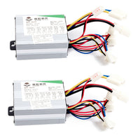 Two (2) 350 W 24 V Speed Controller box for scooter e-bike GoKart electric motor