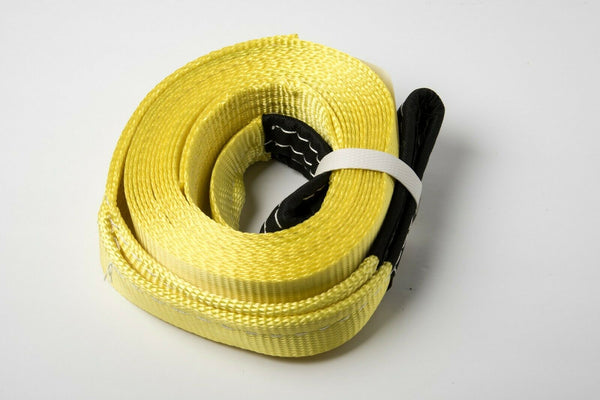 "2"" 20' Yellow 4T 9000lbs Tow Strap 2x20 winch sling OffRroad ATV UTV snatch Pull"