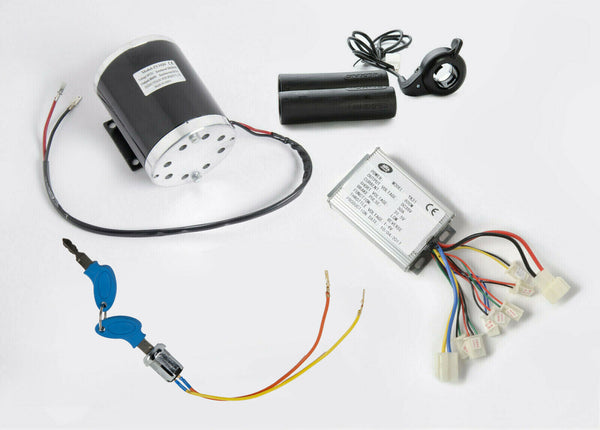 800W 36V electric motor kit w base, control w Reverse, key lock & Thumb Throttle