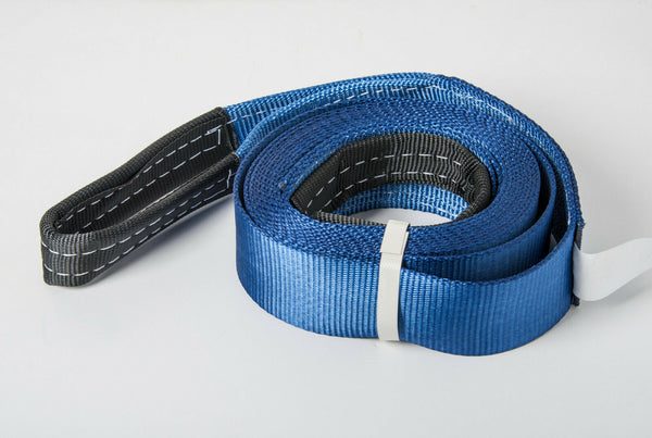"3"" 6.5 TON BLUE Tow Strap 20 ft 3x20 winch sling off-road ATV UTV recovery"