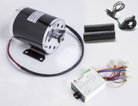 500W 24 V electric scooter 1020 motor kit w base controller box & Thumb Throttle