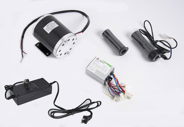 500 W 24 V electric 1020 motor kit w base, controller Throttle charger f scooter
