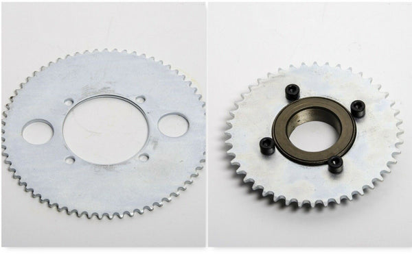 #25 65T 4 hole Sprocket chain drive gear+Free wheel f rear wheel GoKart Scooter