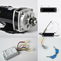 800W 36 V DC gear reduction electric motor+Rev Controller+Foot Throttle+KeyLock