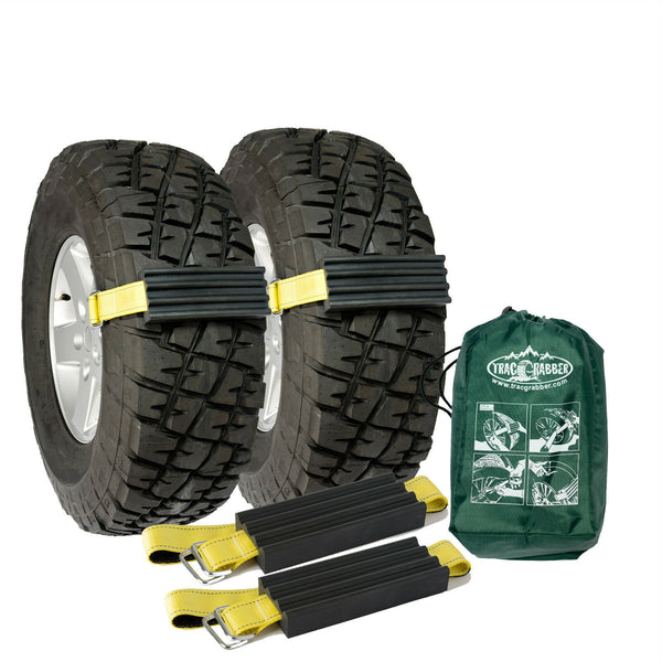 2 Pk Large Trac-Grabber TRUCK SUV Unstuck Emergency Traction Mud Snow Tire Chain