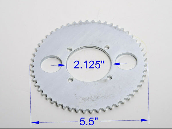 #T8F 8mm 54T 4 hole Sprocket chain drive gear f rear wheel GoKart ATV eBike