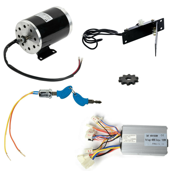 35 sprocket 1000W 48V electric motor+Control box+Reverse+Keylock+Pedal Throttle