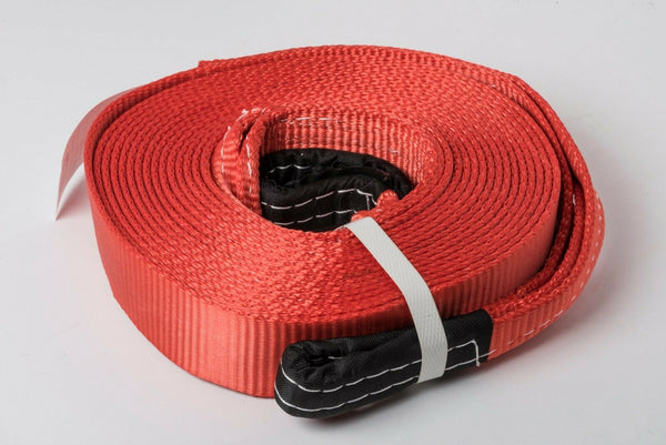 "2x Red 2""x30' 20000lb 9T 2x30ft SUV Truck Tow Strap winch rope off-road recovery"