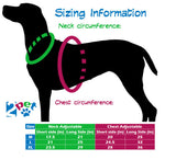 2PET Dog Harness No Pull Reflective Harness Adjustable Vest Style No Collar