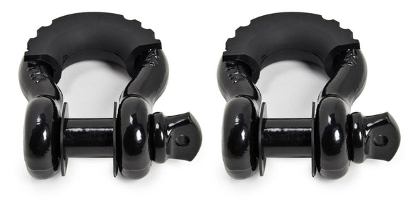"(2) 3/4"" BLACK DRing Bow Shackle 10500lbs BLACK Pin & no noise vibration Reducer"