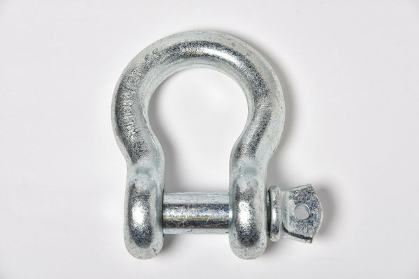 "1"" Galvanized DRing Bow Shackle Screw w Pin Clevis Rigging Towing 8.5Ton 18500lb"