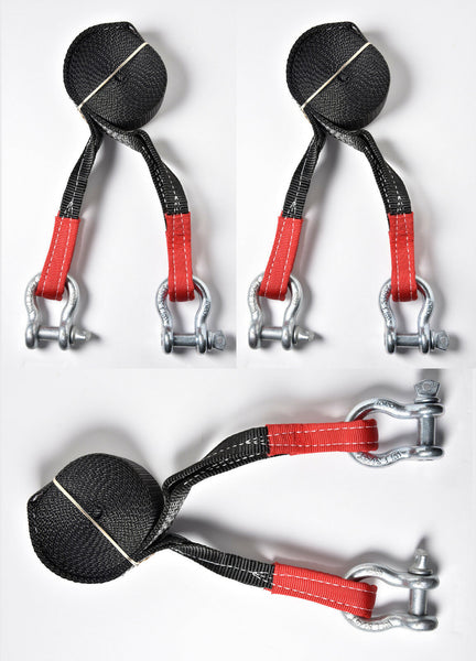 "(3) 2"" 9000lbs Tow Strap w D-Rings 20 ft winch sling off-road Pull recovery 4WD"