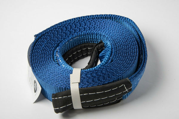 "2"" Blue 14000lbs 6.5T Tow Strap 20ft winch sling snatch recovery 2x20 Mud Snow"