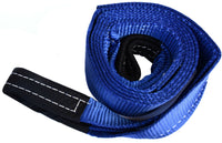 "3"" 26000 lbs Tow Strap 10 ft winch tree saver off-road snatch recovery w D-Rings"