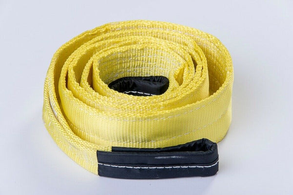 "3"" 20000lbs Tow Strap 3x10ft Winch tree saver protector offRoad snatch SUV Truck"