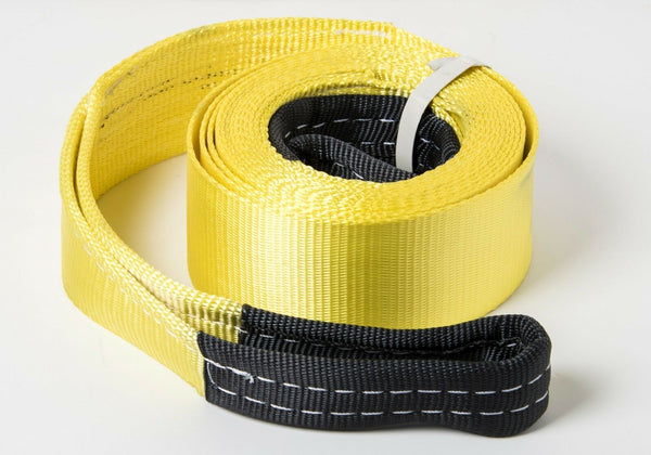 "3"" 6.5 TON YELLOW Tow Strap 20 ft 3x20 winch sling off-road ATV UTV recovery"
