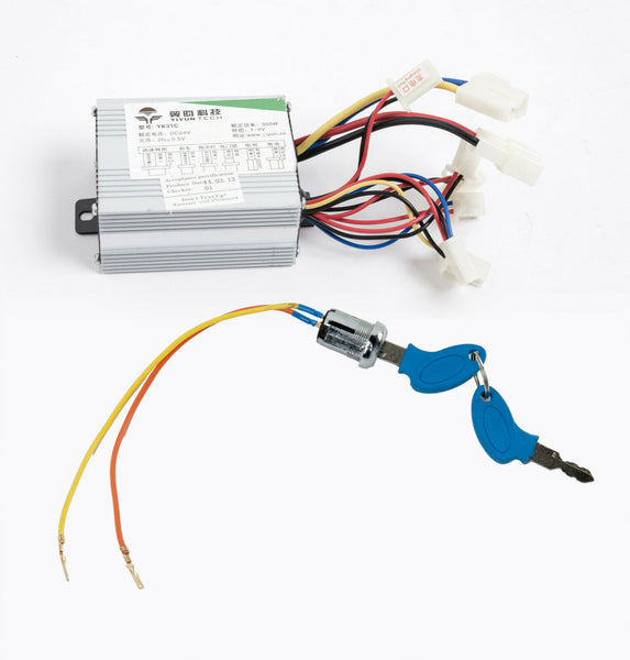 350W 24 V DC Speed Controller box+KeyLock Switch f scooter e-bike electric motor