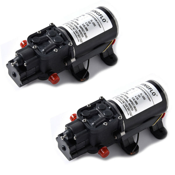 2 PACK 12V BOAT RV AUTOMATIC WATER PRESSURE PUMP REPLACE FLOJET 100PSI 1.3GPM