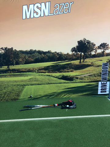 MSNLazer Drive Wall + Pro Golf Surface Kit (Static Image or Blank)