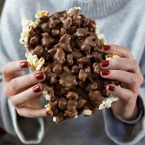 Milk Chocolate Covered Popcorn - 24oz Canister