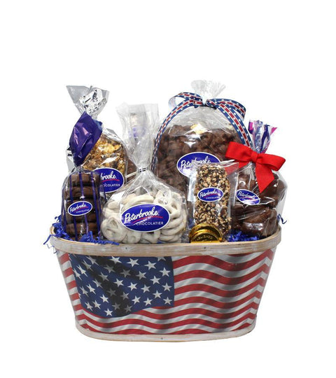 Stars & Stripes Patriot Basket - Online Exclusive - Peterbrooke Chocolatier