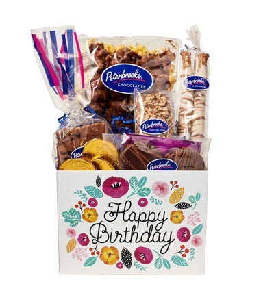 Happy Birthday Flowers Gift Box
