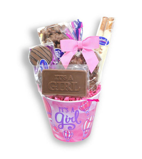 It's a Baby Girl Pail - Peterbrooke Chocolatier