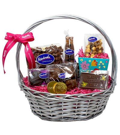 Mother's Day Medium Silver Basket - Peterbrooke Chocolatier