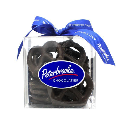 Hand-Dipped Dark Chocolate Pretzel Twists gift box - Peterbrooke Chocolatier