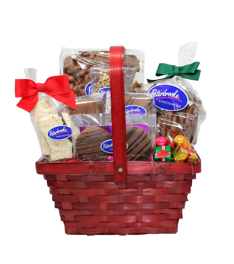 Red Holiday Basket