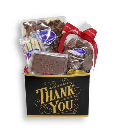 Thank You Black & Gold Gift Box - Peterbrooke Chocolatier