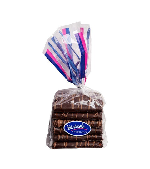 Hand-Dipped Dark Chocolate Graham Crackers - 6pc - Peterbrooke Chocolatier